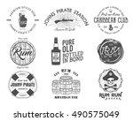set of vintage handcrafted... | Shutterstock .eps vector #490575049