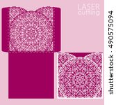 die laser cut wedding card... | Shutterstock .eps vector #490575094