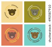 assembly flat icons nature bear ... | Shutterstock .eps vector #490587910