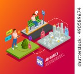 augmented reality apps and... | Shutterstock .eps vector #490589674
