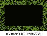 green frame background - stock photo