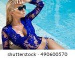 portrait beautiful phenomenal... | Shutterstock . vector #490600570