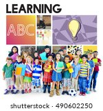 children academic learning... | Shutterstock . vector #490602250