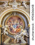 Small photo of ROME, ITALY - MARCH 12, 2016: The fresco of Pentecost in church Chiesa di Santa Maria dell Orto by A. Procaccini (1704).