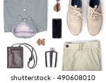 mans clothing and accessories...   Shutterstock . vector #490608010