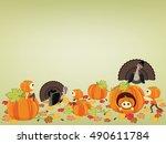 happy thanksgiving background...   Shutterstock .eps vector #490611784