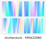 hologram wallpaper set. smooth... | Shutterstock .eps vector #490622080