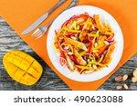 mango  fried chicken breast...