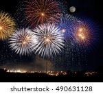 Colorful Fireworks With The...