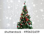 holidays  celebration and home... | Shutterstock . vector #490631659
