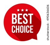 best choice speech bubble | Shutterstock .eps vector #490636606