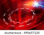 graphical modern studio news... | Shutterstock . vector #490657120