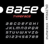 rounded italic sport font.... | Shutterstock .eps vector #490662760