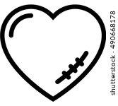 heart scar icon | Shutterstock .eps vector #490668178