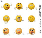 comic emoticon icon set | Shutterstock . vector #49067287
