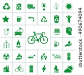ecology icon set | Shutterstock .eps vector #490674094