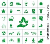 ecology icon set | Shutterstock .eps vector #490674148
