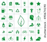 ecology icon set | Shutterstock .eps vector #490674190