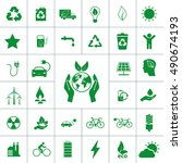 ecology icon set | Shutterstock .eps vector #490674193