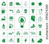 ecology icon set | Shutterstock .eps vector #490674280