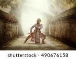 art culture thailand dancing in ... | Shutterstock . vector #490676158
