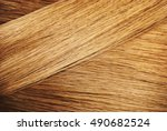 perfect healthy dyed blond hair ... | Shutterstock . vector #490682524