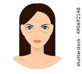 the girl vector illustration.... | Shutterstock .eps vector #490692148