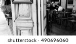 Parisian Cafe. Blurred Interio...