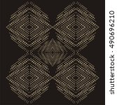 brilliant stones rhomb pattern... | Shutterstock .eps vector #490696210