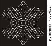 snowflake rhinestone applique... | Shutterstock .eps vector #490696219