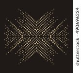 snowflake rhinestone applique...   Shutterstock .eps vector #490696234