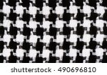 background with houndstooth... | Shutterstock . vector #490696810
