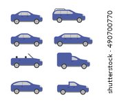 different types of cars vector... | Shutterstock .eps vector #490700770