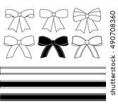 gift bows vector | Shutterstock .eps vector #490708360