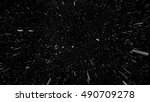 falling snowflakes towards on... | Shutterstock . vector #490709278