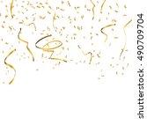 gold confetti celebration   Shutterstock .eps vector #490709704