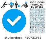 yes icon with 1000 medical... | Shutterstock .eps vector #490721953