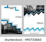 vector brochure cover templates ... | Shutterstock .eps vector #490733860