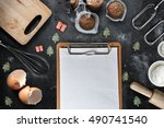 A Blank Clipboard With Kitchen...