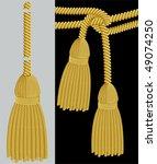 gold tassel adobe illustrator... | Shutterstock .eps vector #49074250