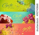 gift vouchers horizontal...   Shutterstock .eps vector #490743868