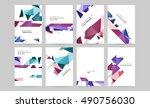 6 brochure template layouts ...   Shutterstock .eps vector #490756030