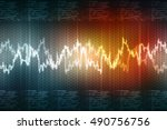 2d illustration business graph   Shutterstock . vector #490756756