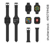 smart watches wearable... | Shutterstock .eps vector #490759408
