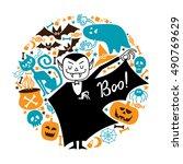 halloween set.  | Shutterstock .eps vector #490769629