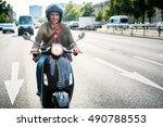 Tourist In Berlin Riding...