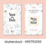 wedding set. romantic vector... | Shutterstock .eps vector #490793350