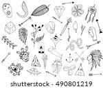 old school tattoo elements.... | Shutterstock .eps vector #490801219