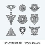 package of abstract vector... | Shutterstock .eps vector #490810108