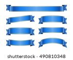 ribbon banners set. sign blank... | Shutterstock . vector #490810348